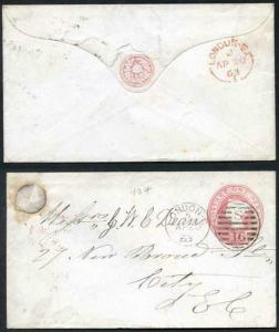 EP11 QV 1d Pink Envelope Size B (20.1.63) Used London CDS