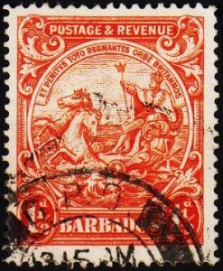 Barbados. 1925 1 1/2d S.G.231ba Fine Used