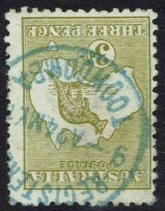 AUSTRALIA 1913 KANGAROO 3D DIE I 1ST WMK INVERTED USED