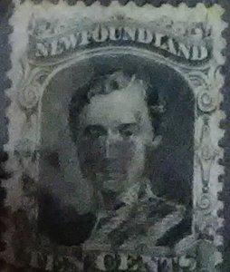 Newfoundland Scott Cat #27a Prince Philip 1865 value 69.60