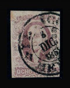 VINTAGE: MEXICO 1856 USD,LH SCOTT #5 $ 200 LOT # MEX1856B3