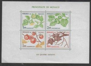 MONACO #1315  1981  PERSIMMON BRANCH  MINT  VF NH  O.G SHEET 4