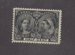 CANADA # 50 VF-MNH 1/2ct DIAMOND JUBILEE CAT VALUE $420