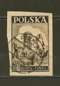 Poland 392 Imperforated Used