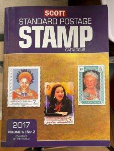 2017 SCOTT STAMP CATALOGS - VOL 1 - 6