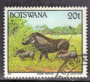 BOTSWANA   SC# 525   USED  1992   WARTHOG   SEE SCAN