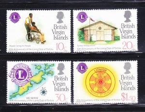 Virgin Islands 426-429 Set MNH Lions