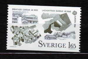 J23067 JLstamps 1982 sweden mnh hv of set #1401 land reform europa