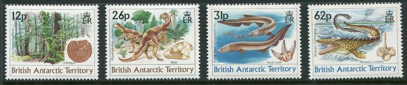 British Antarctic Territory Scott 172-75 1991 Age of Dinosaurs Mint NH