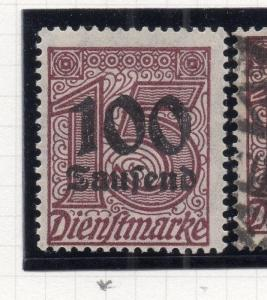Germany Officials 1923 August Fine Mint Hinged 100Taufend. Surcharged 244653