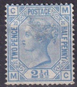 Great Britain #68 Plate20  F-VF  Used  CV $65.00  (Z5212)