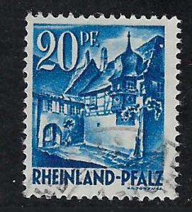 Germany - under French occupation Scott # 6N7, used
