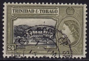 Trinidad & Tobago - 1953 - Scott #80 - used - Government House