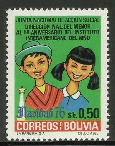 Bolivia 1977 Scott# 599 MNH