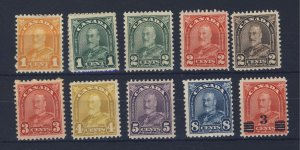 10x Canada Mint Arch Series Stamps #162-163-164-165-166-167-168-169-171-191 $38.