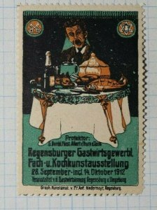 Regensburger German Catering Trade Exhibition Exposition Poster Stamp Ads