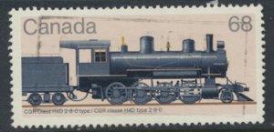 Canada SG 1188  Used Steam Locomotive Govt Railway H4D  SC# 1072  see scan