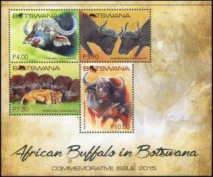Botswana 2015. African Buffalo In Botswana (MNH OG) Souvenir Sheet