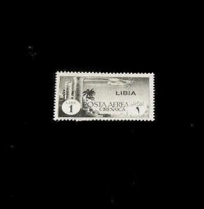 LIBIA , 1941, AIRMAIL SINGLE, MH, NICE! LQQK!