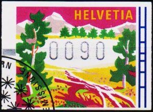 Switzerland. 1996? 90c Machine Label. Fine Used
