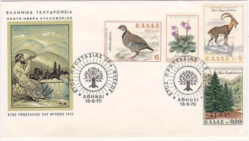 Greece 992-995 Set FDC Nature Conservation (A)