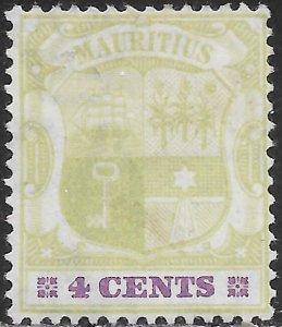 Mauritius 91 Unused/Hinged - Coat of Arms