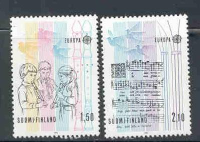 Finland Sc 707-8 1985 Europa stamp set mint NH
