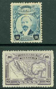 EDW1949SELL : MEXICO 1917-20 Scott #623a, 626 Both VF, Mint Original Gum Cat $85