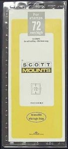 Scott/Prinz Pre-Cut Strips 265mm Long Stamp Mounts 265x72 #1031 Clear
