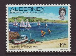 1983 Alderney 11p U/M SGA5