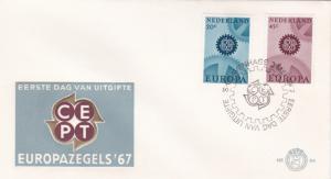 Netherlands 1967 Europa FDC Unadressed VGC No.84