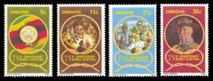 Zimbabwe 1982 Scott #452-455 Mint Never Hinged