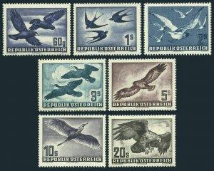 Austria C54-C60,MNH.Michel 955-956. Birds 1950-53.Rooks,Gray heron,Buzzard,Eagle