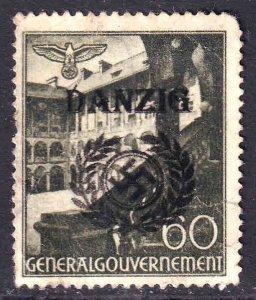 POLAND N63 GERMANY OCC DANZIG OVERPRINT USED F/VF
