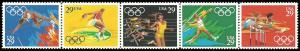 PCBstamps     US #2553/2557a Strip $1.45(5x29c)Summer Olympics, MNH, (2)