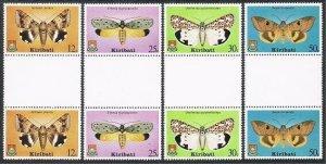 Kiribati 356-359 gutter pairs,MNH.Michel 354-357. Butterflies 1980.Achaea Janata