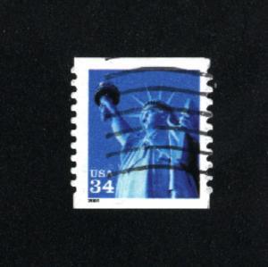 USA # 3466  2   used 2000 PD .08