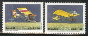 Brazil Scott 2173-4 MNH** 1989 aircraft set