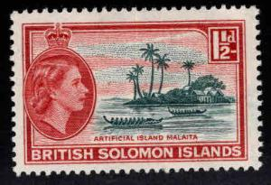 British Solomon Islands Scott 91 MH* wmk 4 QE2