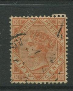 STAMP STATION PERTH: Mauritius #75 FU 1887  Single 50c Stamp