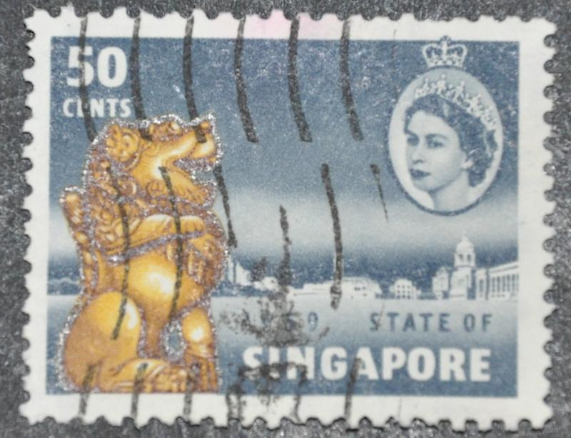 DYNAMITE Stamps: Singapore Scott #48 – USED