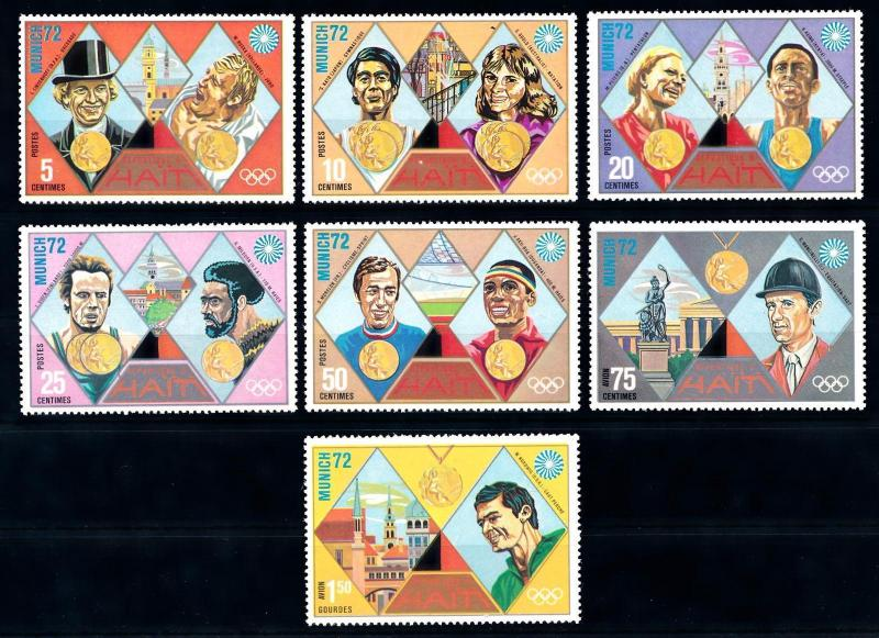 [63213] Haiti 1972 Olympic Games Munich - Gymnastics  Athletics From Set MNH
