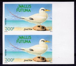 Wallis and Futuna Islands 1990 Sc#393 BIRD Phaeton Pair IMPERFORATED MNH