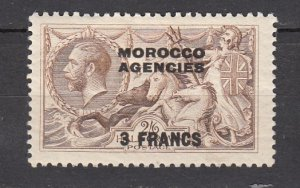 J26353  jlstamps 1924 great britain morocco mh #410 ovpt