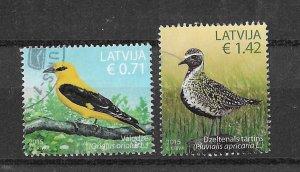 Latvia Used 913-4 Birds 2015