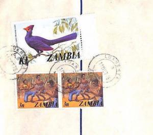 ZAMBIA Ndola Luanshya REGISTERED STATIONERY Airmail Cover BIRDS 1978 XX86