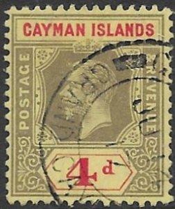 Cayman Island 38   1913   4d   fine used