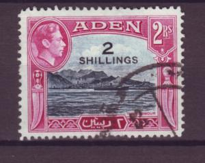 J20855 Jlstamps 1951 aden used #44 ovpt king view
