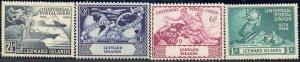 UPU, Universal Postal Union 75th Anniv, Leeward Islands SC#126-129 MNH set
