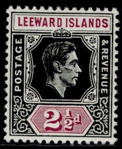 LEEWARD ISLANDS GVI SG106, 2½d black & purple, NH MINT.